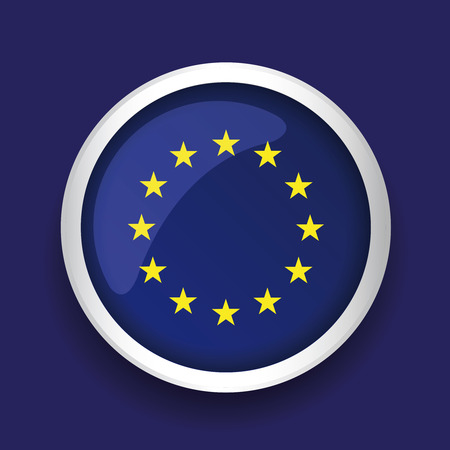 flagged: Europe flag (EU) vector Illustration