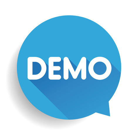 demo: Demo button vector