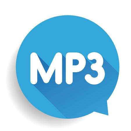 mp3: MP3 button vector