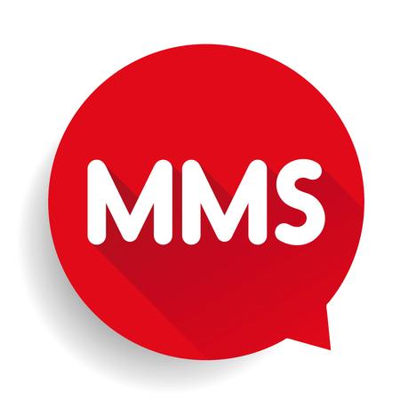 mms: MMS button vector