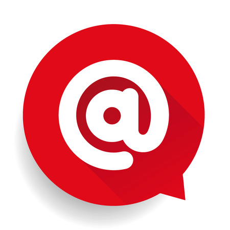 email icon: Email icon button vector