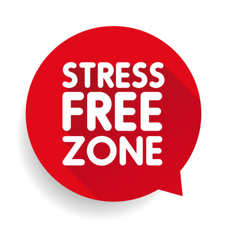 stress test: Stress Free Zone vector label