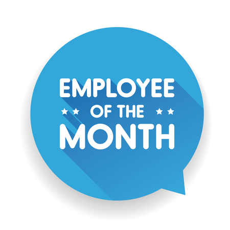 Employee of the month label Banco de Imagens - 58367982