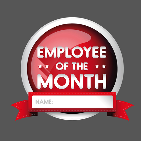 month: Employee of the month label