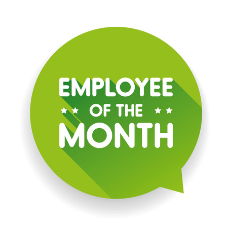 Employee of the month label