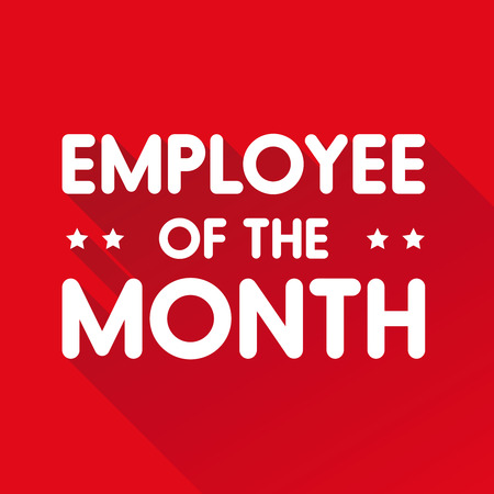 red ribbon week: Employee of the month label