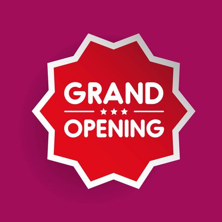 recommendations: Grand Opening invitation label lettering