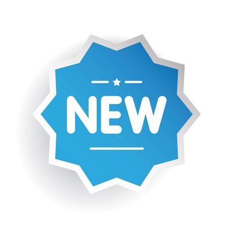 New sticker blue