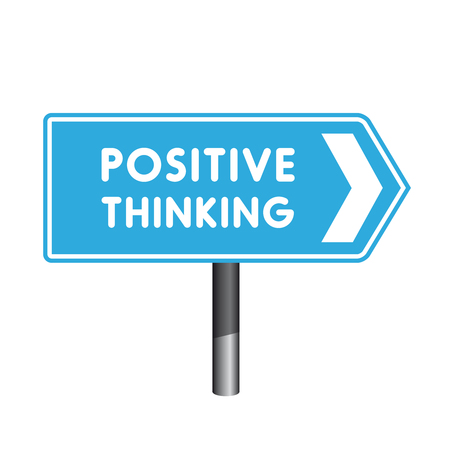 uplifting: Positive thinking crossroad sign