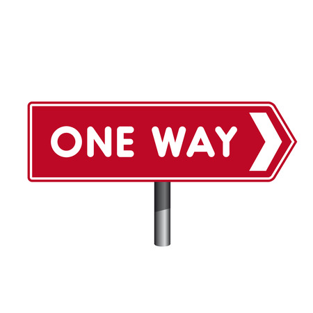 signal pole: One Way sign crossroad sign
