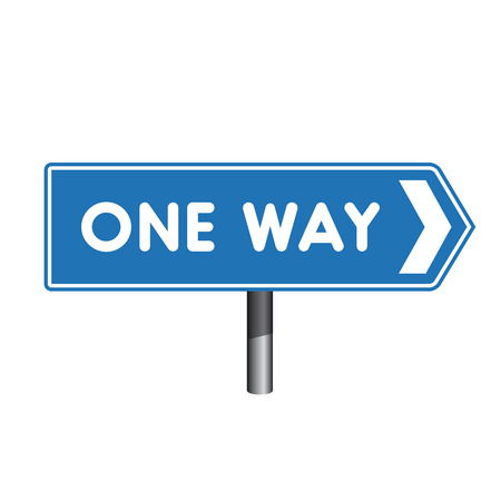 one way sign: One Way sign crossroad sign