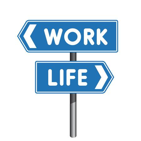 cruce de caminos: El trabajo signo cruce Vida