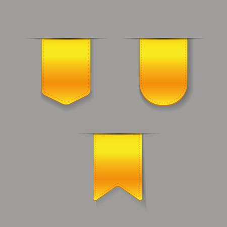 ribbon vector set: Yellow ribbon vector set Illustration