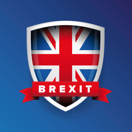 yes or no to euro: Brexit sign UK flag vector