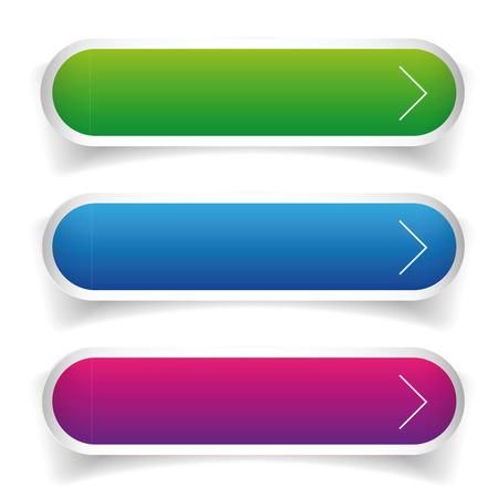 blue arrow: Vector button set