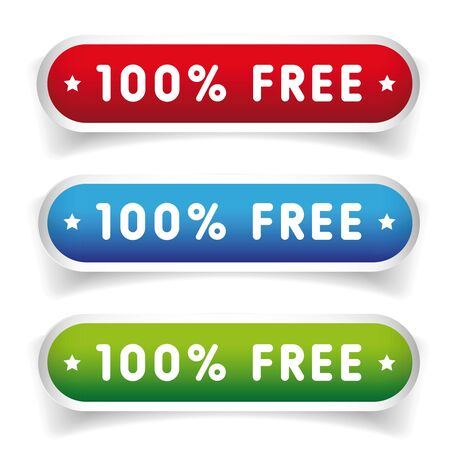 freebie: 100 pecent free button set Illustration