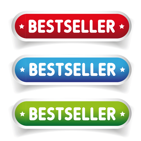 seller: Best seller button set Illustration