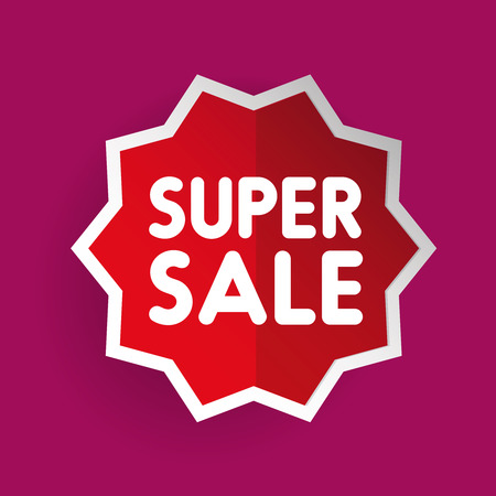 sticker vector: Super Sale sticker vector