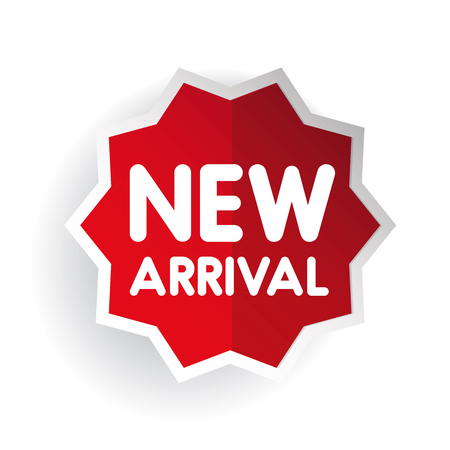 arrival: New arrival sticker vector