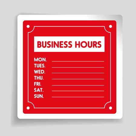 sat: Business Hours sign vector template