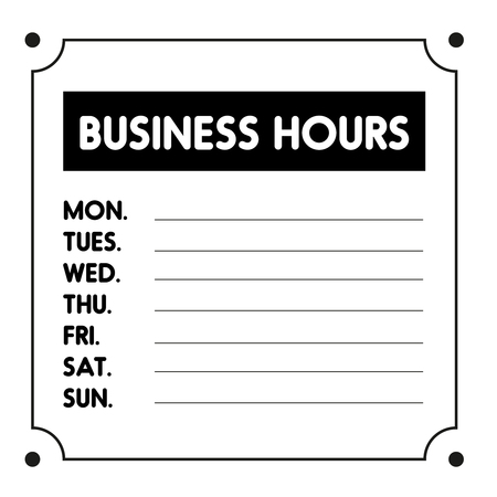 business sign: Business Hours sign vector template