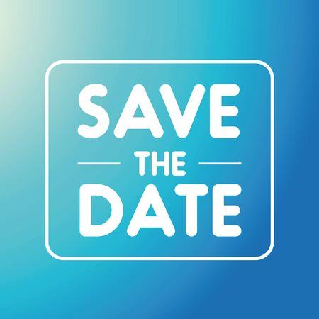 Save the Date vector invitation Banco de Imagens - 58761380