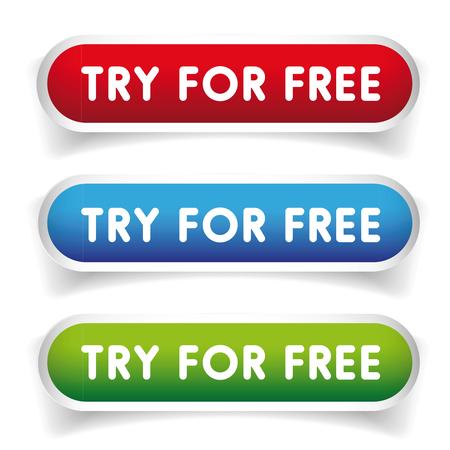 ください無料のベクター ボタン  イラスト・ベクター素材