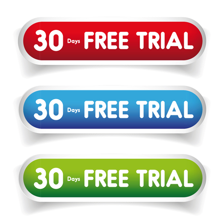 free trial: 30 days free Trial vector button