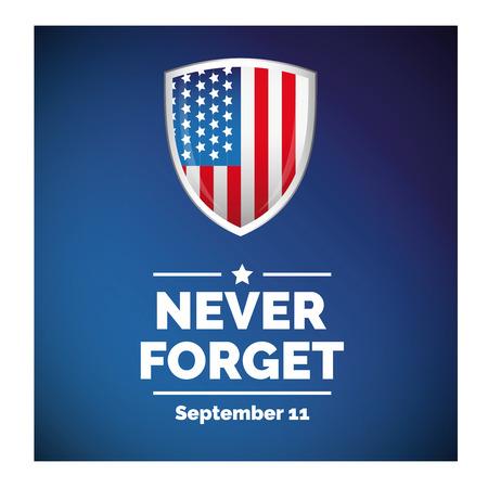 911 개념 벡터와 미국 국기