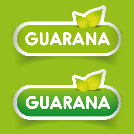 liana: Guarana sign label vector Illustration