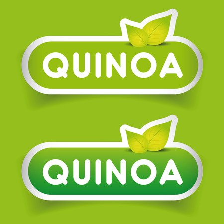 glycemic: Quinoa sign label vector