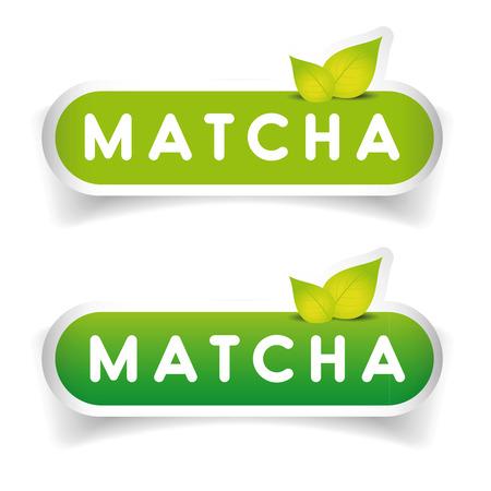 ceylon: Matcha sign label vector