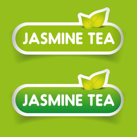 ceylon: Jamine Tea sign label vector