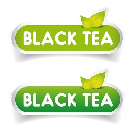 black tea: Black Tea sign label vector