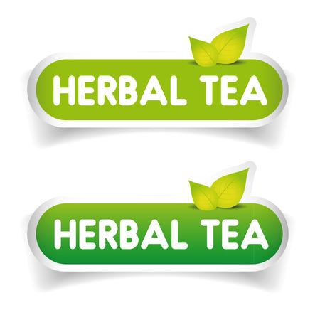 ceylon: Herbal Tea sign label vector