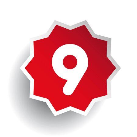 numero nueve: El n�mero nueve 9 estrella roja