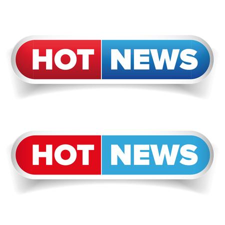 reportage: Hot News button vector