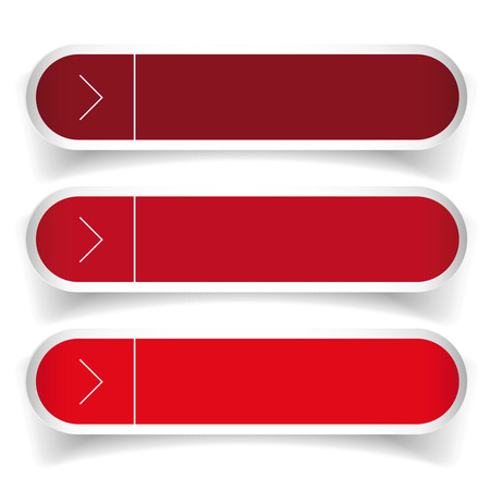 web buttons: Empty web buttons vector - red