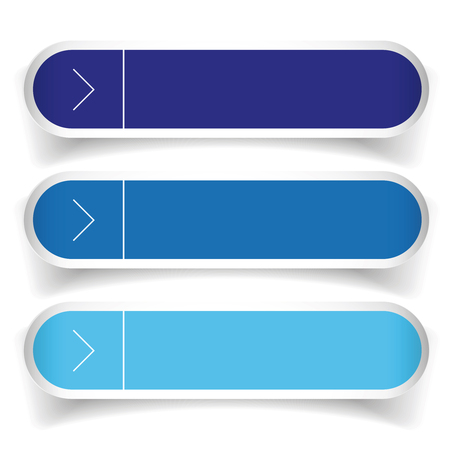 satined: Empty web buttons vector - blue