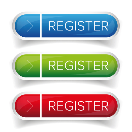 Register button web vector Ilustracja