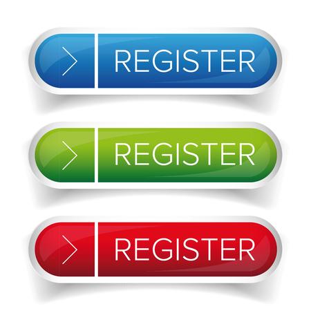 subscribing: Register button web vector Illustration