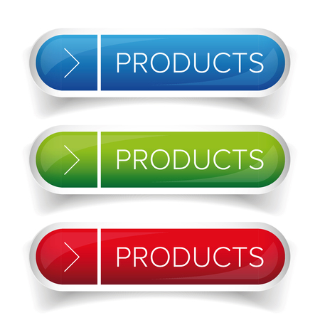 newness: Products button set vector