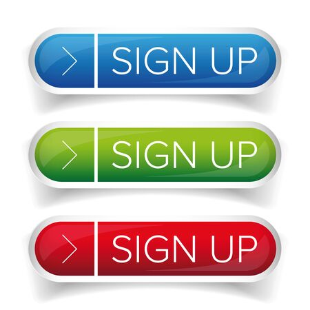 sign up button: Sign Up button set
