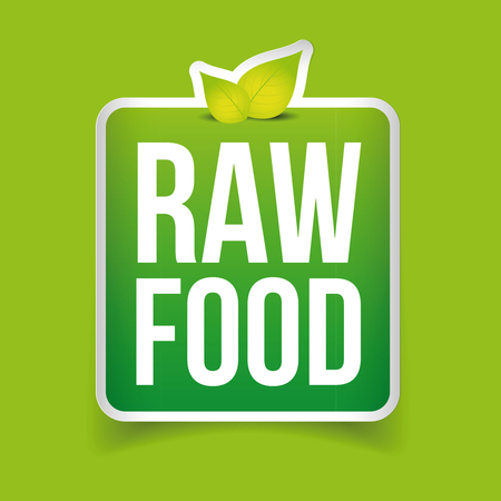 raw food: Raw Food label vector