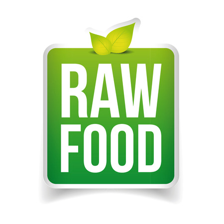 Raw Food label vector