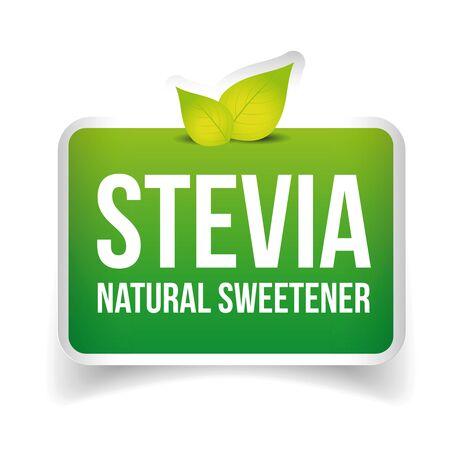 sweetener: Stevia - Natural Sweetener label vector Illustration