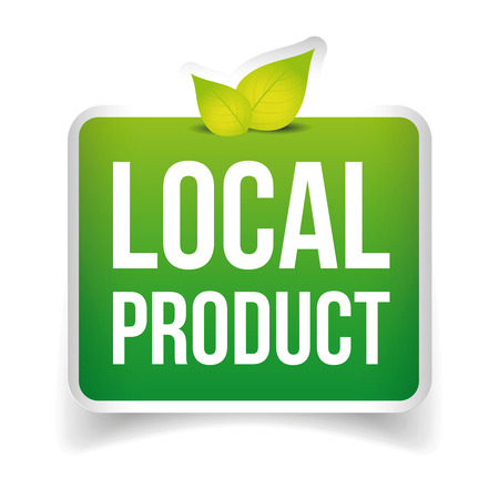 local: Local Product label green Illustration