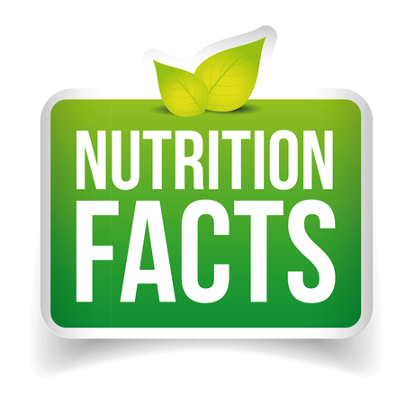 Nutrition Facts button vector