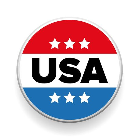 suffrage: United States Election Vote Button or badge Illustration