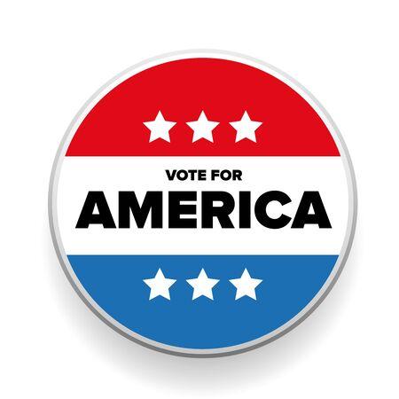 vote button: United States Election Vote Button or badge Illustration